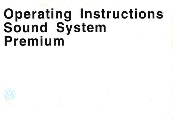 1997 Volkswagen Jetta Owners Manual in PDF