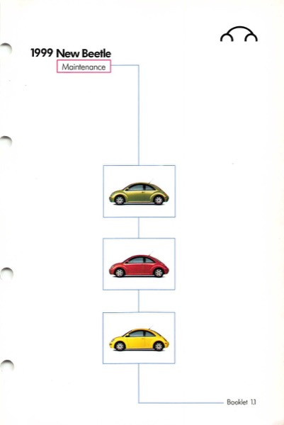 1999 Volkswagen Beetle Owners Manual in PDF