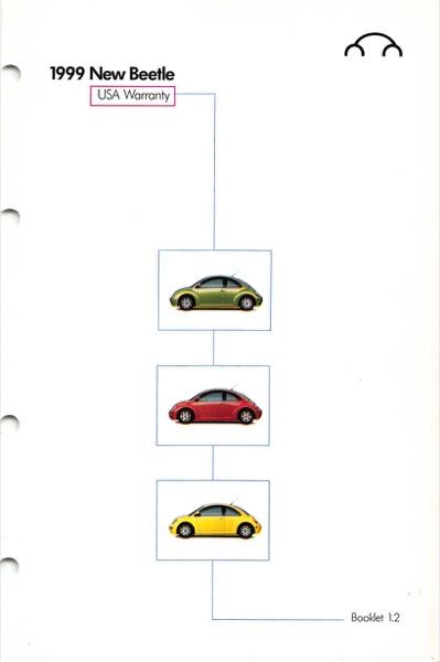 1999 Volkswagen Beetle Owners Manual in PDF