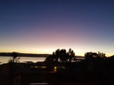 Morning sunrise outside of my window in Puno