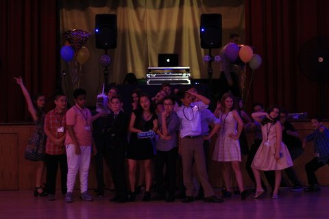 Group photo from a Bar Mitzvah party in Seattle with DJ Dubreezy