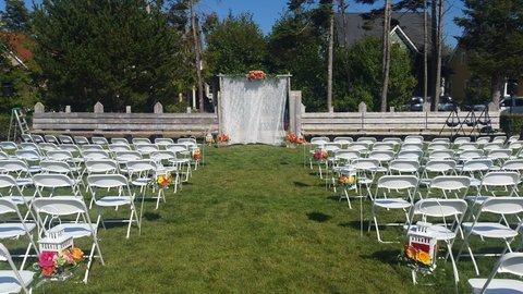 Seabrook wedding ceremony at Crescent Park