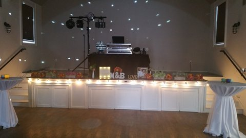 Seabrook wedding DJ setup