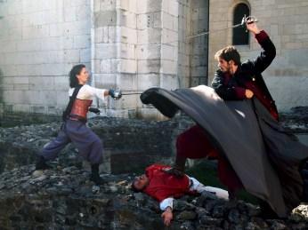 (D'artagnan (C. Bouvarel), Cardinal de Richelieu (G. Dubreuil) et Duc de Buckingham (L. Bernardi)