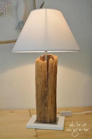 Du bruit au grenier brocante bois flott pi ces uniques page 5 - Socle pour lampe bois flotte ...