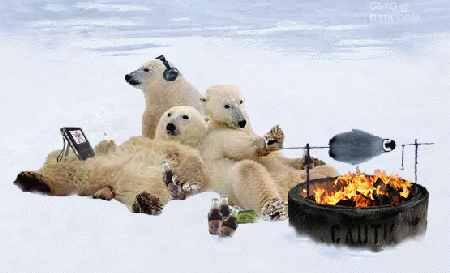 Penn State fans enjoying tailgating under global warming.