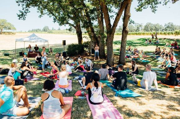 Vinyasa in the Vineyard