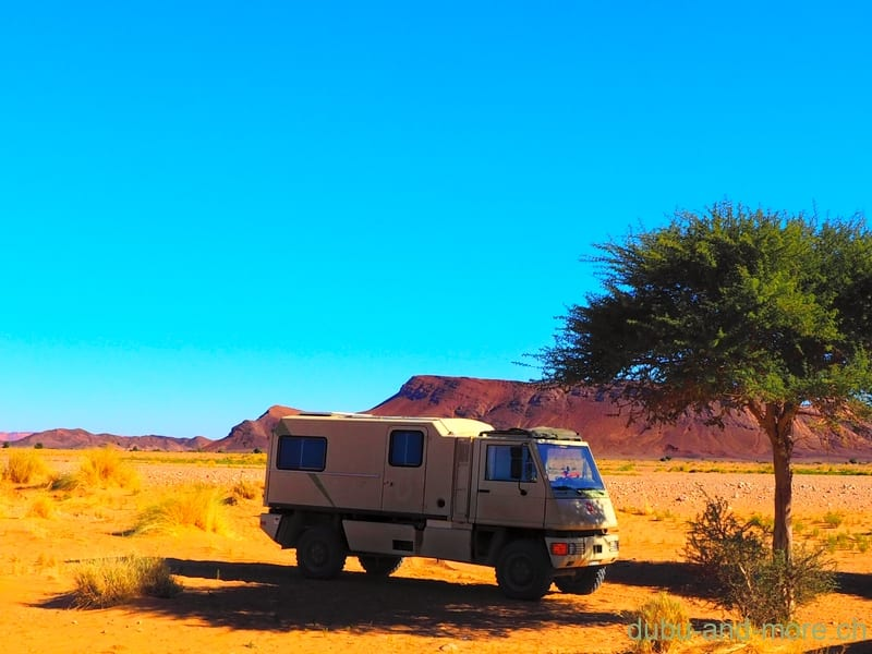 Lonely in the desert of Morocco