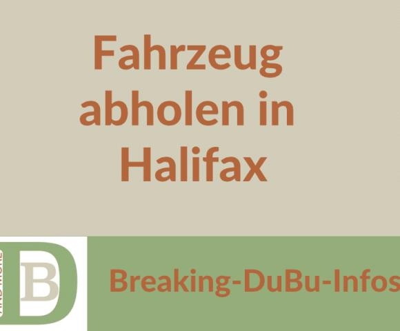 Fahrzeug abholen in Halifax