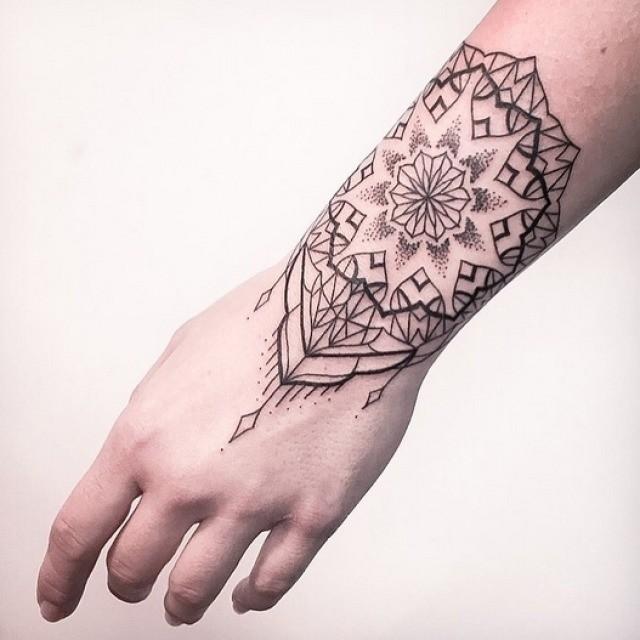Mandala Wrist Tattoo  Best Tattoo Ideas Gallery