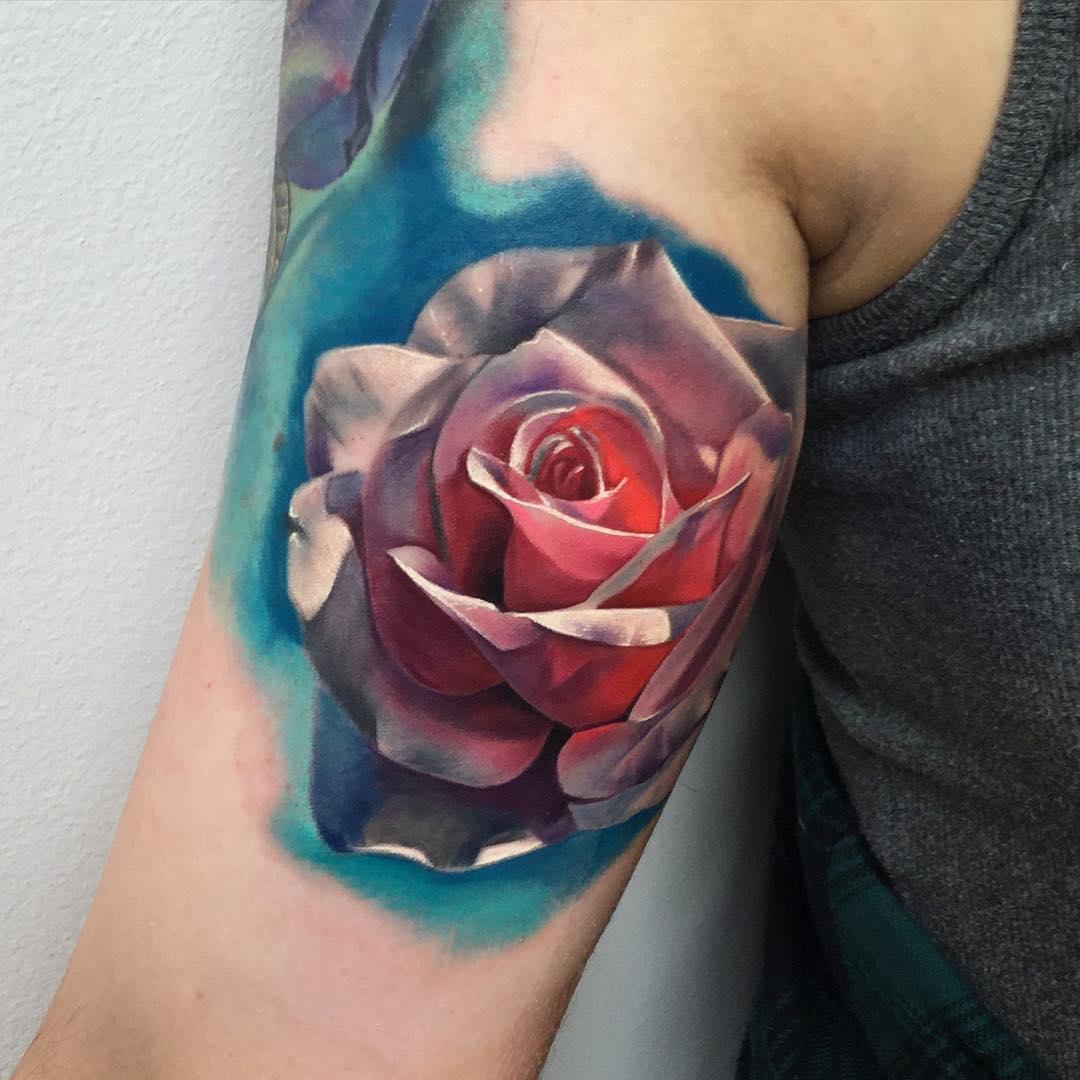 Realistic Rose Tattoo  Best Tattoo Ideas Gallery