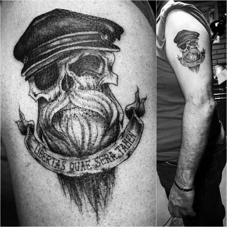 Bearded Skull Tattoo On Shoulder  Best Tattoo Ideas Gallery