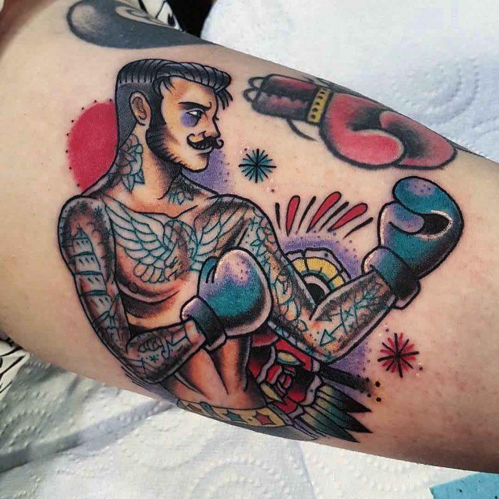 Old School Boxer Tattoo  Best Tattoo Ideas Gallery