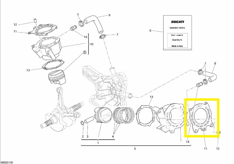 Cylinder Head GASKET for Ducati 1098 & Streetfighter