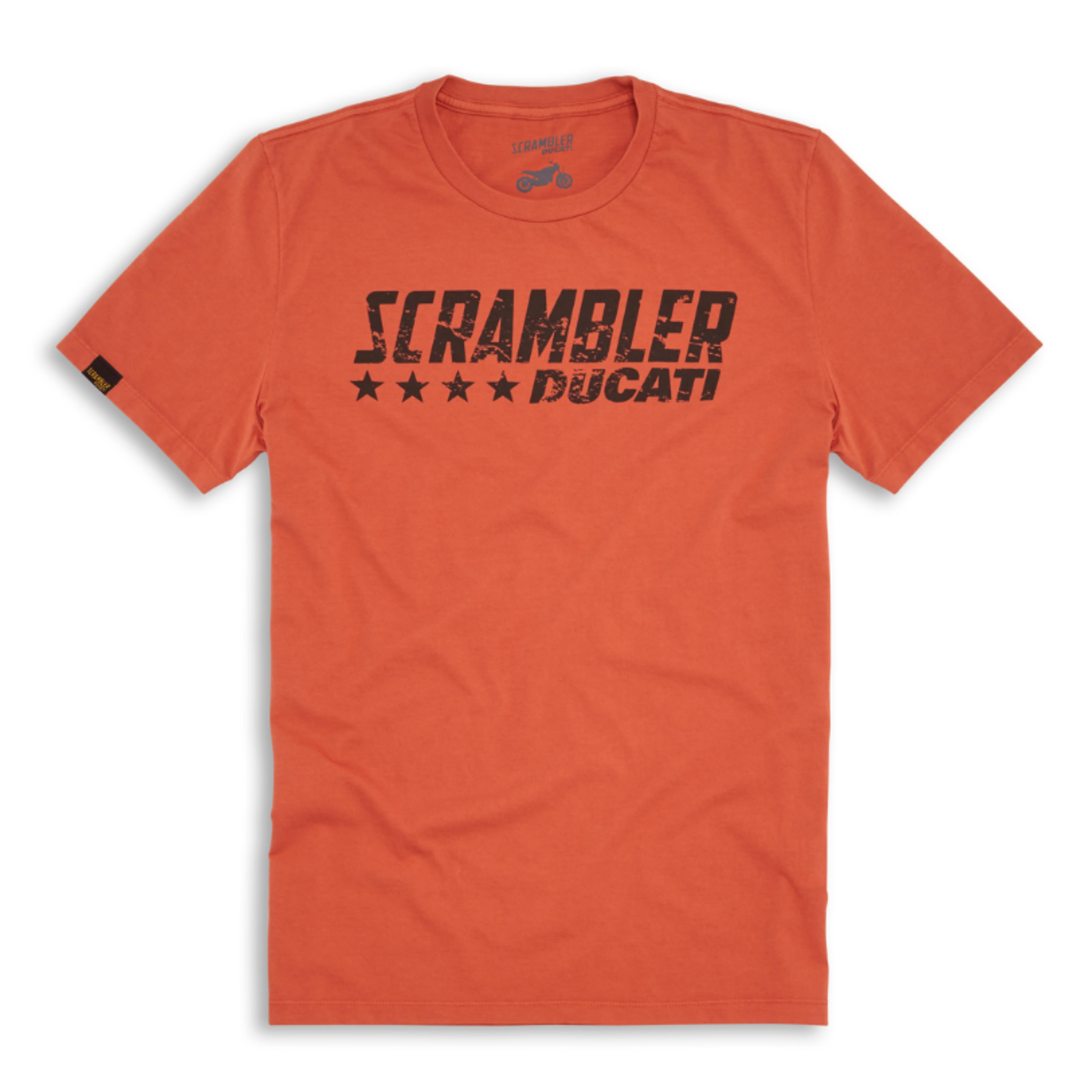 T-shirt Ducati Orange Flip SCR