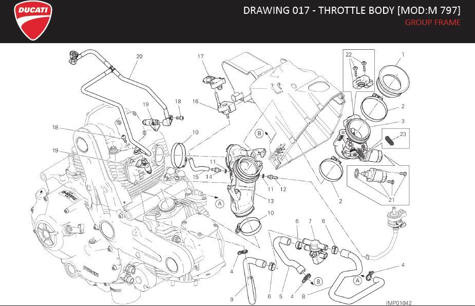 Ducati Monster Actuator (ais). Throttle, mod, group