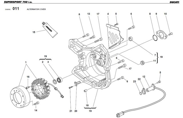 ducati monster 900 parts list