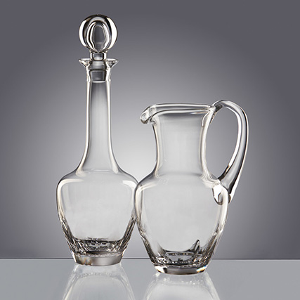 CALLIOPE BROCCA  E BOTTIGLIA Water Jug and Bottle  H 25,5 / 36 cm