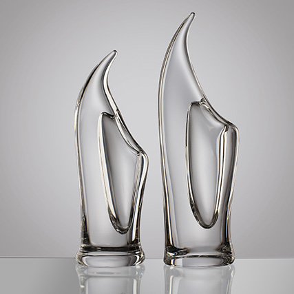 EOLO VASO TRASPARENTE  Eolo Transparent Vase H 52 cm