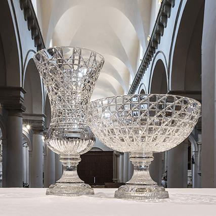 DUCALE VASO E CENTROTAVOLA TAGLIO LUCY Ducale Vase and Centrepiece Lucy Cut H 60 cm ø 40 cm