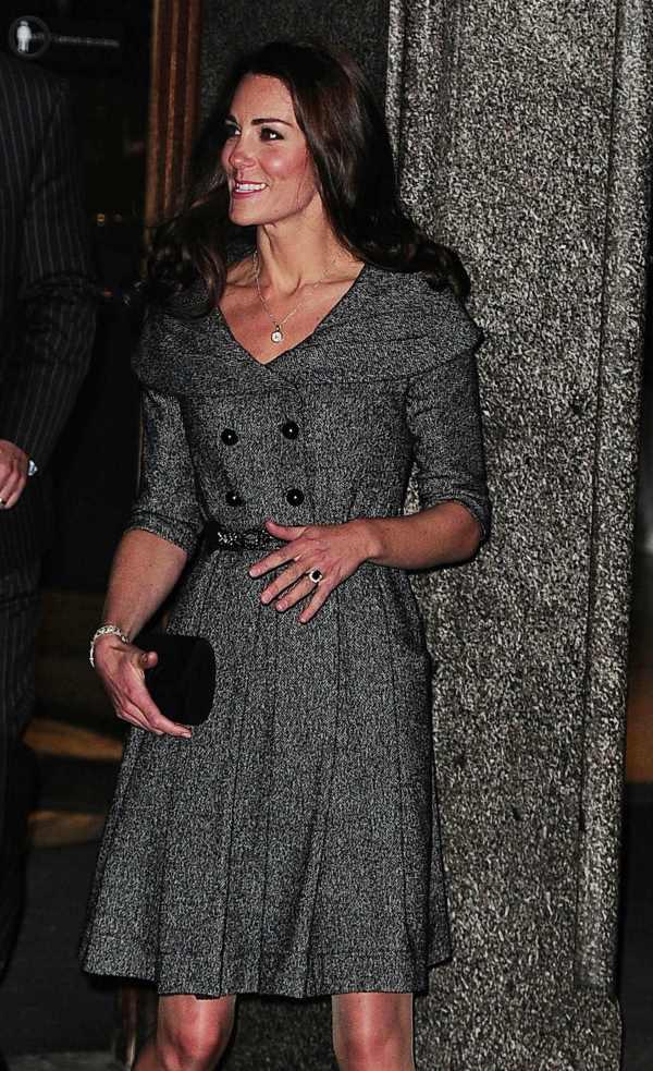 Duchess Kate Grey Tweed Coat Dress Jesir Duchesse