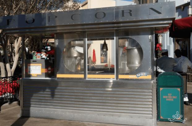 Buena Vista Street Popcorn Cart