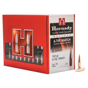 Hornady A-Tip Match Copper 6.5mm 153-Grain 100-Rounds BT Bullets Only