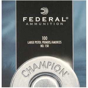 Federal Large Pistol Primers #150 Box of 1000 (10 Trays of 100)