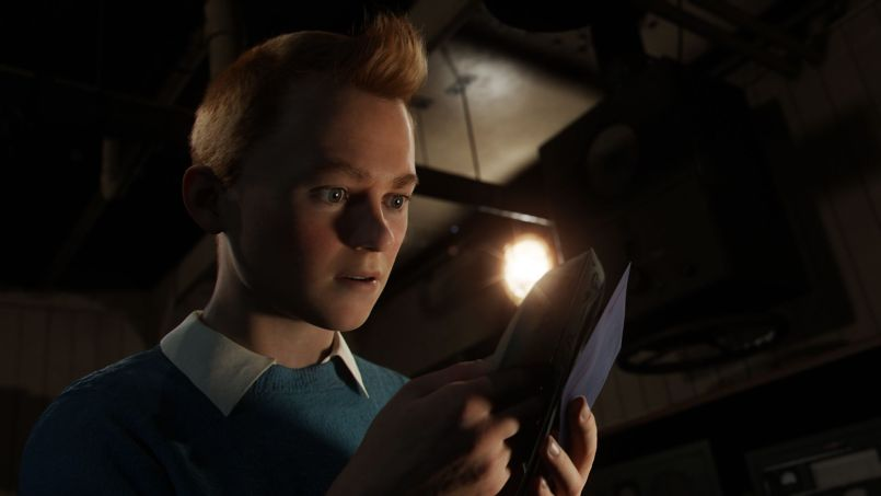 Tintin (Jamie Bell) in THE ADVENTURES OF TINTIN, from Paramount Pictures and Columbia Pictures in association with Hemisphere Media Capital.