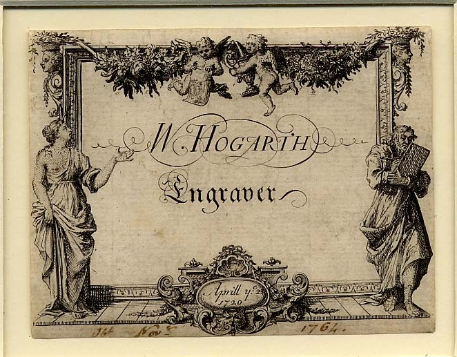Hogarth's shop card