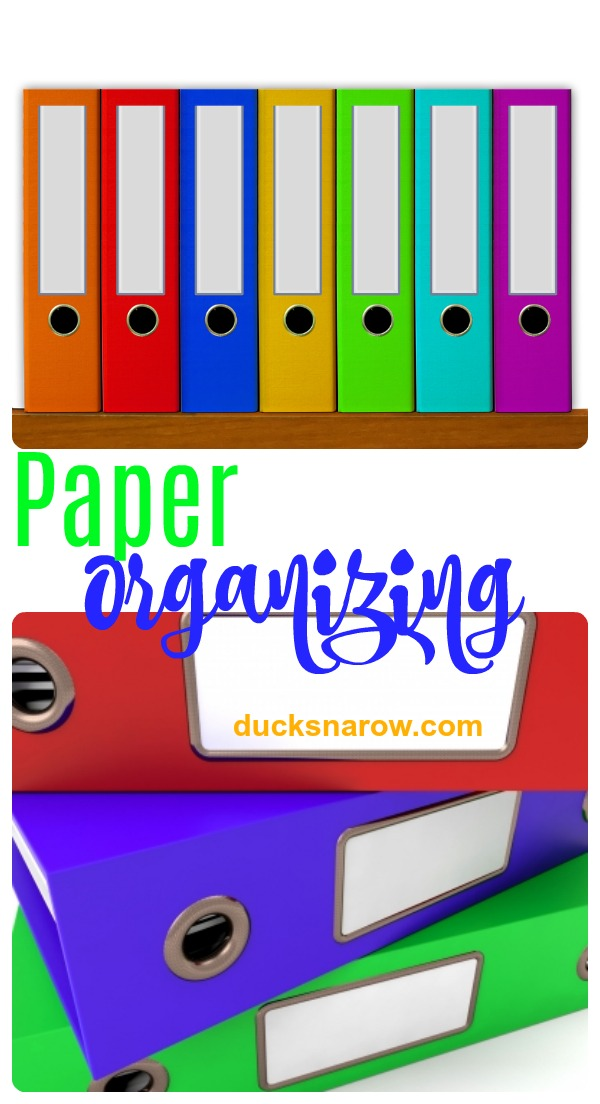 How to get paper clutter under control #organizing