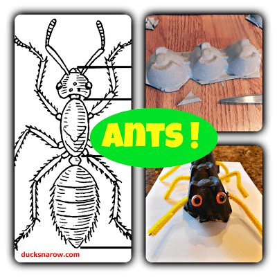 A is for Ant preschool craft