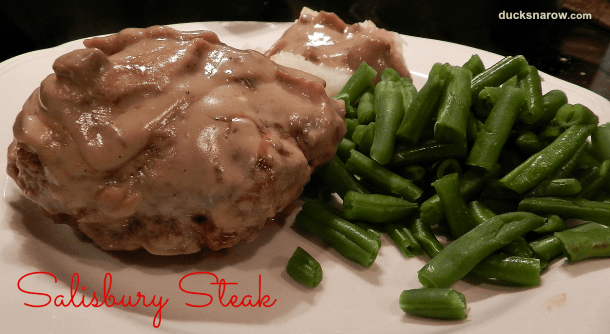 Salisbury Steak is a delicious, tummy warming dish that is perfect for a cold winter night! #dinner #recipes