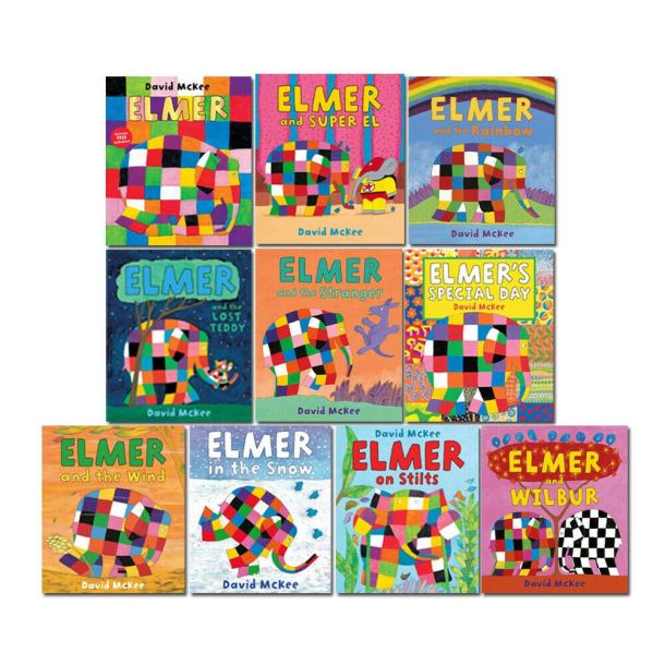10 Book Collection of Elmer the Patchwork Elephant Books #ad