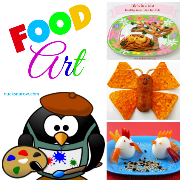 Animal themed snacks, animal food, food that looks like animals, food that looks like plants, food that looks like castles #foodart Ducks 'n a Row