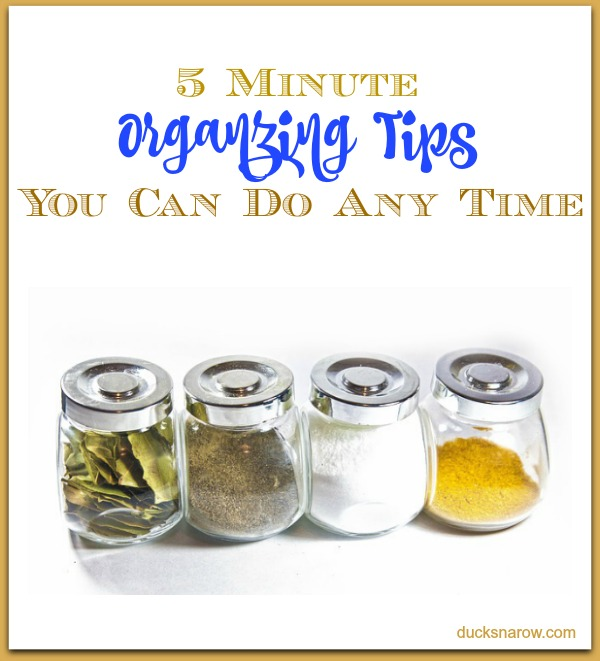 5 minute organizing jobs to get you from clutter to clean! #tips