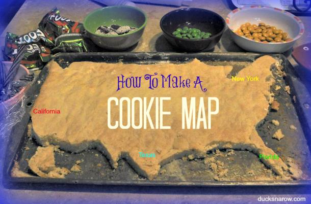 USA cookie map #maps #sugarcookies #homeschooling