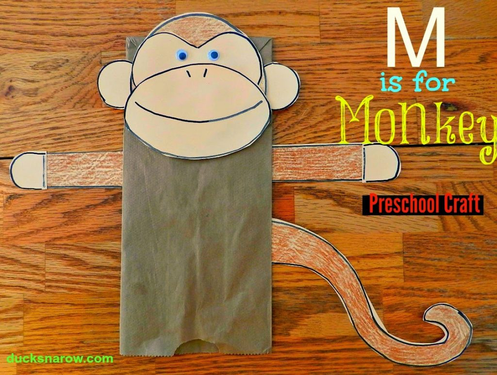 M Is For Monkey Preschool Craft