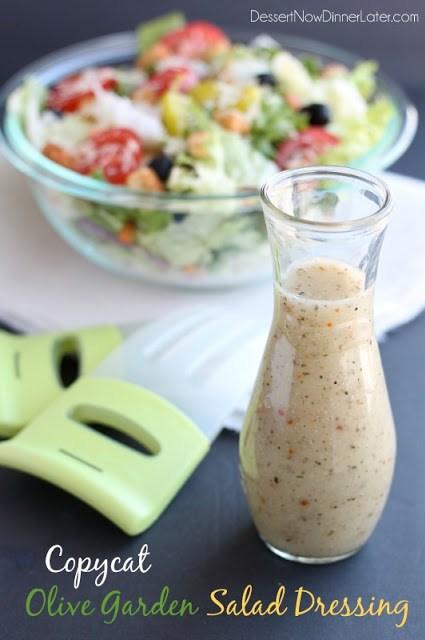 DIY salad dressing modeled after Olive Garden salad dressing