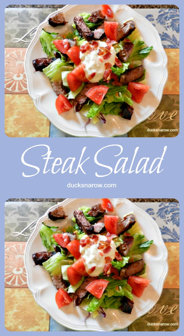 Delicious lo carb steak salad #recipe