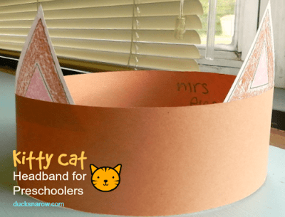 Letter C is for Cat preschool crafts and lesson; cat, kitten, crafts