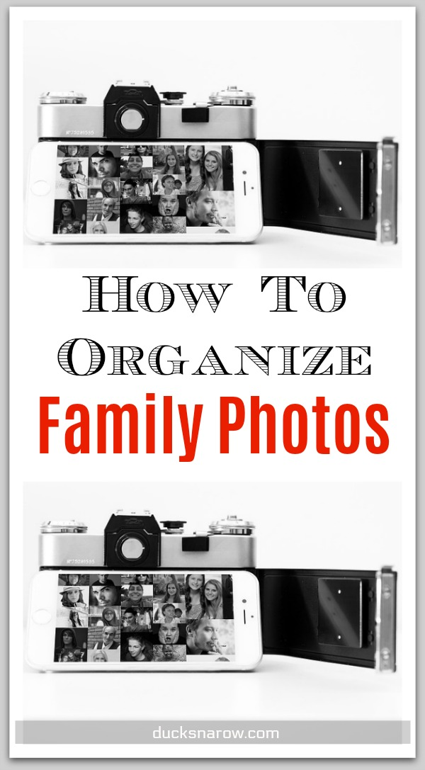 How to organize family photos #organizing