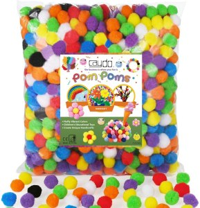 Caydo collection of pom poms for crafts #ad