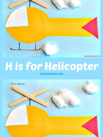 Fun helicopter craft for kids #preschool