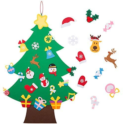 Felt Christmas Tree for kids to decorate #Ad
