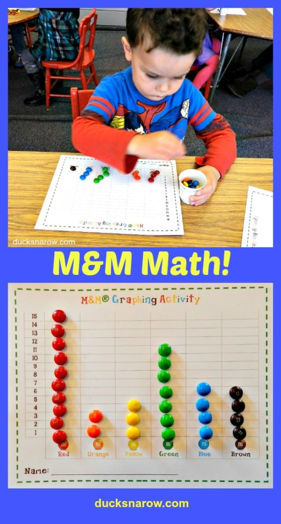 M&M math graphing for #kids