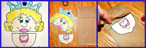 kids crafts, puppets