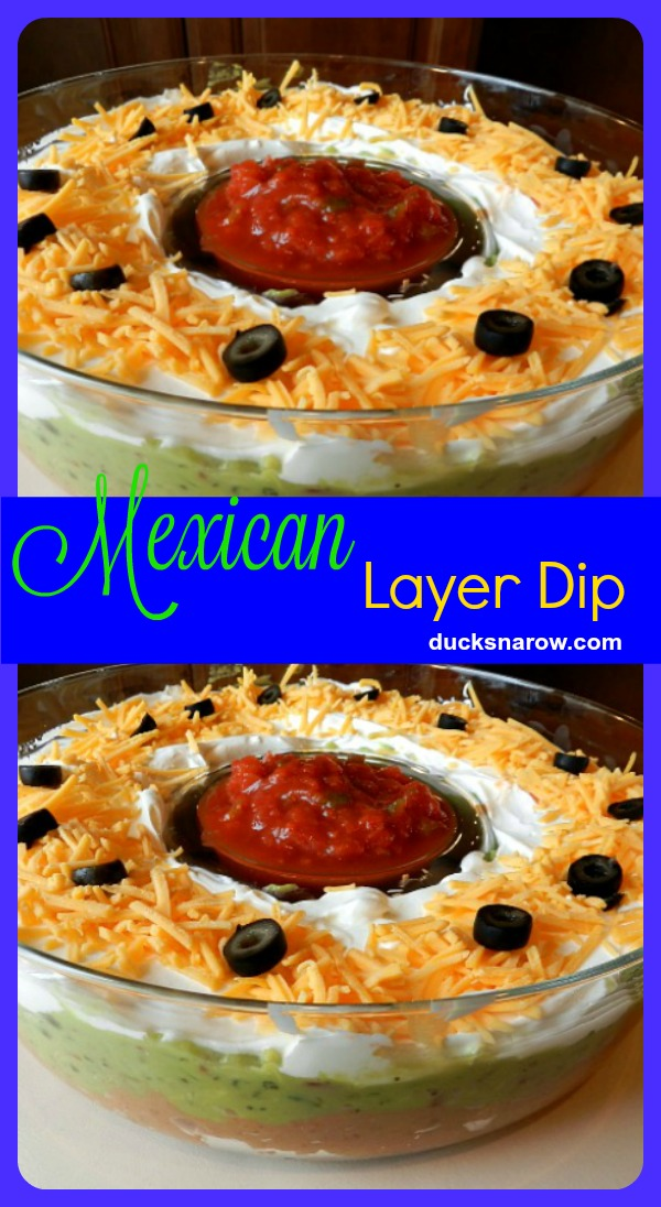 This appetizer, Mexican Layer Dip, is a big hit at parties! #recipes