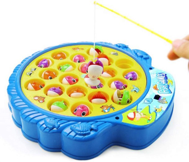 Moving fishing game for toddlers #ad