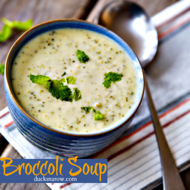 Nutritious and delicious cream of broccoli soup #recipes